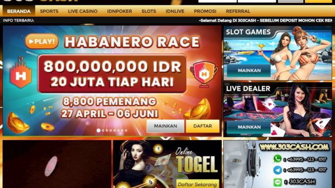 303Cash Agen Poker